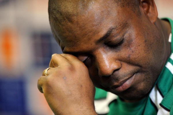 Stephen Keshi, après la mort de sa femme (Getty Images)